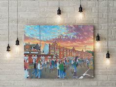 craven cottage going to the match canvas a3